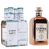 COPPERHEAD - The Alchemists Gin + LAMB & WATT TONIC WATER (4 x 0,2L)