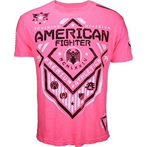 American Fighter by Affliction T-Shirt North Dakota Artisan Pink Pink