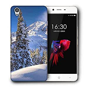 Snoogg Snow Falling Island Designer Protective Phone Back Case Cover for OnePlus X