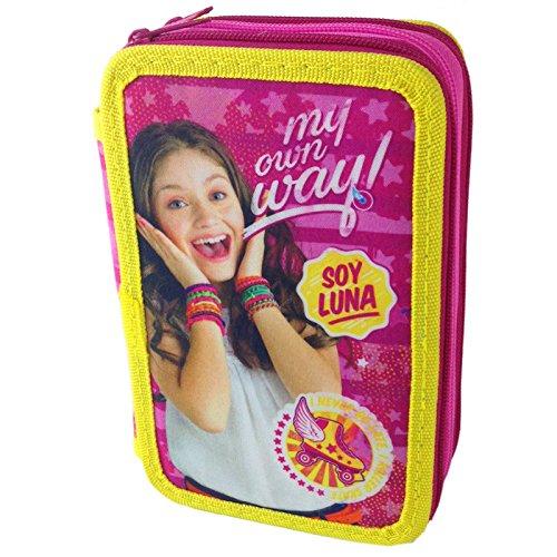 Soy Luna Disney astuccio Triplo 3 zip accessoriato scuola
