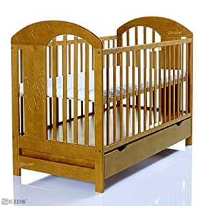 kinderbett 120x60 3 fach h henverstellbar 3 schlupfsprossen braun baby. Black Bedroom Furniture Sets. Home Design Ideas