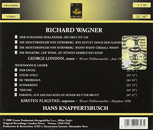 Wagner: Operatic Excerpts and Lieder
