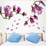 Fernsehhintergrund-Wandaufkleber-Veranda-Glasdekoration-Aufkleber-Garten-Ausgangsgroße Magnolie