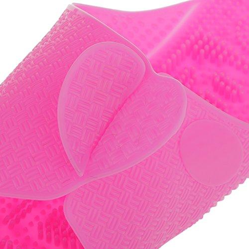 Chaussons de Plage Pliable Portable Voyage Pantoufles Massage Antidérapantes Unisexe - Bleu/Rose Rose L