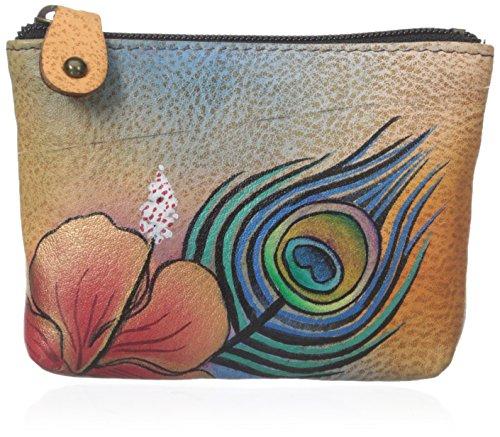 anuschka-dipinto-a-mano-portamonete-in-pelle-luxury-1031-premium-peacock-flower-multicolore-1031-pkf