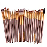 Hosaire Pro Makeup 20pcs Brushes Set Eyeshadow Eyeliner Lip Brush Powder Foundation Tool Gold