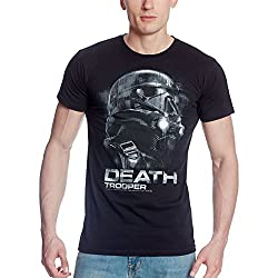 Star Wars T-Shirt Heroic Death Trooper aus Rogue One von Elbenwald schwarz - XL