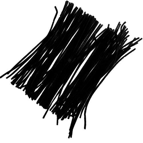 (Generic Pfeifenreiniger 100pcs Stück 30x0.6cm Biegeplüsch für Kinder zum Basteln und Dekorieren - Schwarz)
