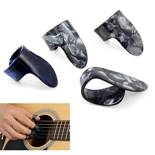 Professionelles Gitarren-Plektrum mit Daumen und 3 Fingern, Zelluloid, für Jim Gitarre, Banjo und Daumen -