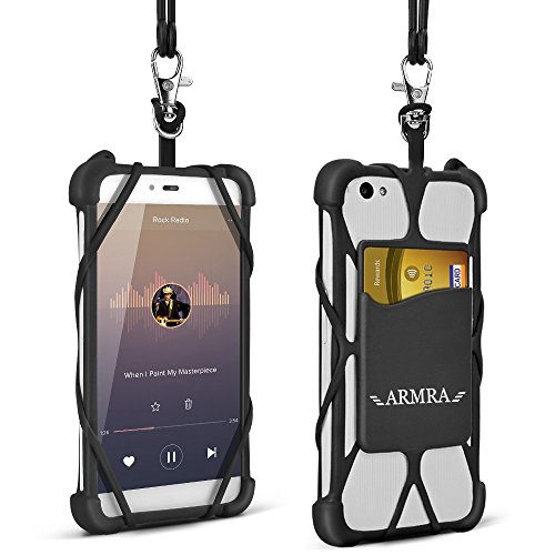 iPhone 7 Hülle, Universal 4 '' bis 6 '' Handy Zubehör Hüllen Schalen Silikon Fall Abdeckung mit Hals Gurt für iPhone 6 6S 6 Plus , iPhone 5 SE , Samsung Galaxy S8 S7 S7 Edge A5 J5 J3 , Huawei P10 Lite