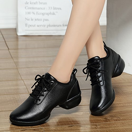 Wuyulunbi@ Scarpe da ballo con pavimento morbido scarpe da ballo Nero