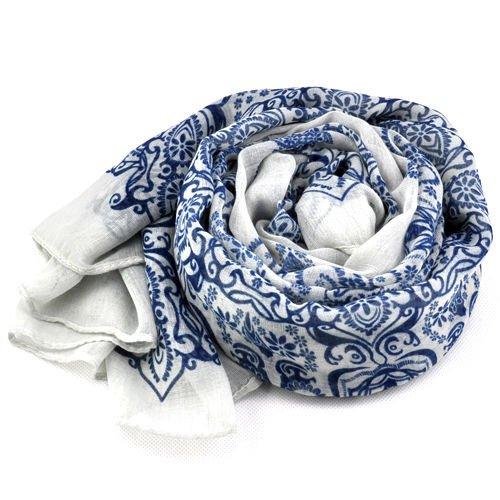 Gleader Grande sciarpa scialle lungo porcellana Stampa