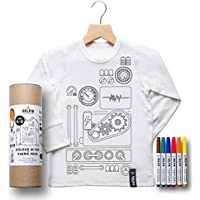 Kids Colour In Top - Robot