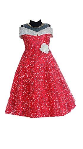 My Lil Princess Baby Girls Birthday Party wear Frock Dress_Red Polka_8- 9...