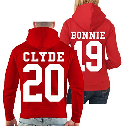 Spaß kostet Partner Kapuzenpullover Bonnie & Clyde 2019 (mit Rückendruck) Größe XS - 8XL (Bonnie Und Clyde Outfits)