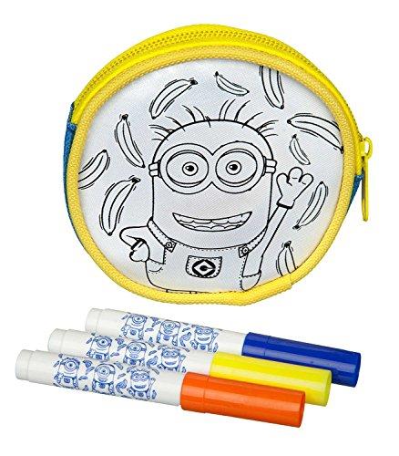 Undercover MNVA7293 Kindergartentasche, Minions, ca. 21 x 22 x 8 cm Geldbörse zum Bemalen