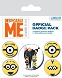 AMBROSIANA Pyramid International Despicable Me (Minions) - Badge 10 x 12.5 cm, Multicolore, 10 x 12.5 x 1.3 cm