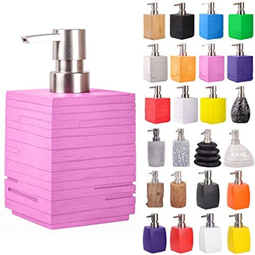 Seifenspender   viele schöne Seifenspender zur Auswahl   modernes, stylisches Design   Blickfang für jedes Badezimmer (Calero Pink)