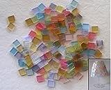 Rayher 14540685 Acryl-Mosaik, 1x1 cm, transparent, SB-Box ca. 205 Stüc