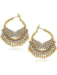 Amaal Jewellery Gold Plated Pearl Jhumka Earring Ear Rings For Girls Women Earring Necklace Jewellery Jhumki-J0145