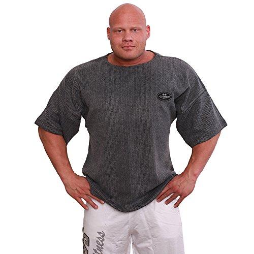 Profi-Gym-Shirt S8-1 - Erhältlich in den Farben: navy, neonorange, oliv, blau, schwarz, grau Bodybuilding Shirt, Fitness T-Shirt - Ideal f. Workout im Fitness-Studio Dunkelgrau