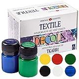 Nevskaya Palitra | Set di colori per tessuti resistenti ai lavaggi | alta qualità | 6 x 20 ml