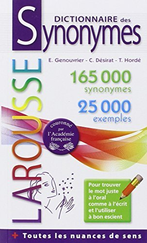 Dictionnaire des synonymes by Emile Genouvrier (2012-05-23)