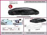 Proposteonline portabagagli Box Tetto Auto 177 x 93 x 37 cm per Fiat Freemont 2011  con Barre Portapacchi portatutto ct56nu