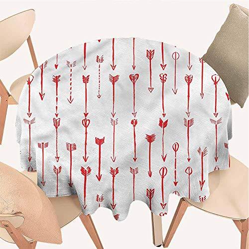 Petpany nautische Tischdecke, runde Tischdecken, Pfeil, vertikales Muster, einfarbig, ideal für Buffet-Tisch, Partys, Urlaubsessen, Hochzeiten und mehr, Vinyl, Color5, D70 inchs