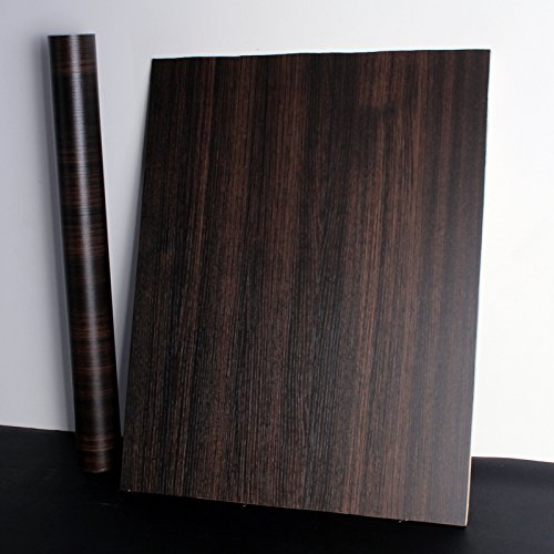 YUELA Die rote Continental tapete weiß Holz Schreibtisch Schrank Schrank Türen Möbel renoviert Aufkleber Selbstklebende Tapete Feuer, dunklen Wood-Grain/60 Cm W X 5 M, Groß