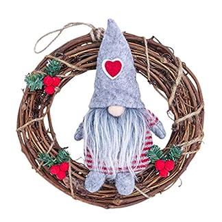 LIOOBO Guirnalda de Navidad Colgando Guirnalda de Navidad para Fiesta de Navidad Puerta de Entrada del árbol de Navidad al Aire Libre