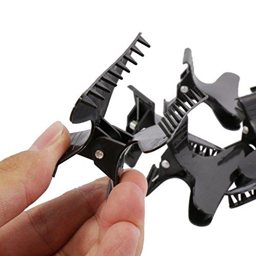 12er Friseure Tools Schmetterlingsklammern Haarfarbe Zul Abschnitt Clips Griffe