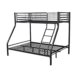 Montreal Black Triple Sleeper Bunk Bed With Two Molly Mattresses
