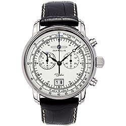 Zeppelin Herren-Armbanduhr XL Chronograph Quarz Leder 76901