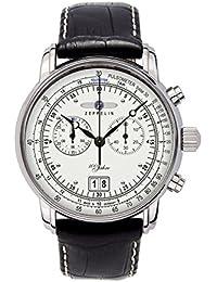 Zeppelin Watches - 76901 - Montre Homme - Quartz Analogique - Bracelet Cuir Noir