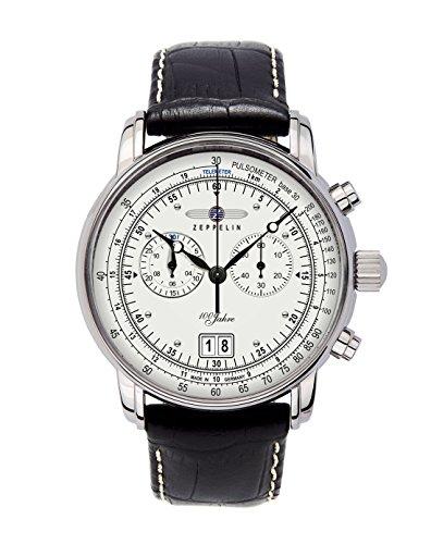Zeppelin Herrenuhr Chronograph Quarz mit Lederarmband - 76901