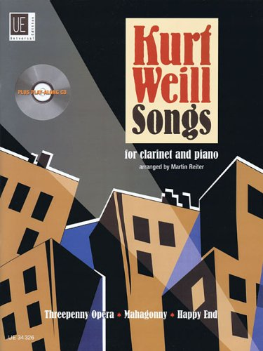 Kurt Weill Songs: for clarinet and piano