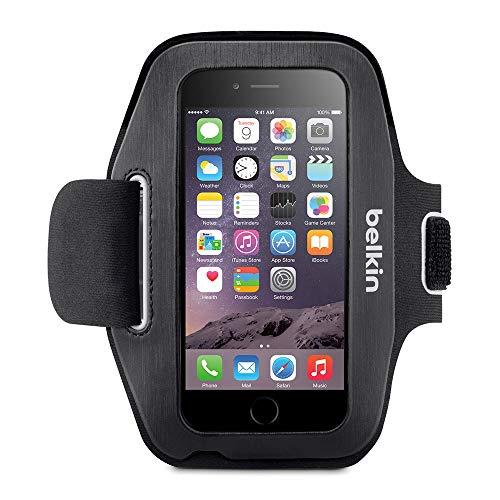 Belkin Sport Fit Sport-Armband (atmungsaktives Neoprenmaterial und verstellbarer Riemen, geeignet für iPhone 6/6s) schwarz/weiß -