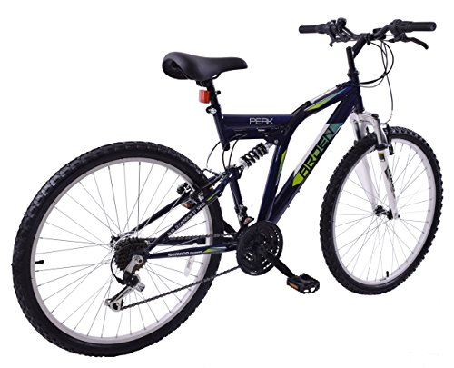 "51kKQdYF6LL - Arden Peak 26"" Wheel Dual Full Suspension 21 Speed MTB Bike 16"" Frame"