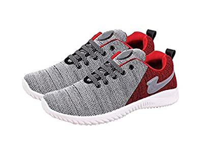 SKYMATE Red Superlite Sneakers for Kid's/Boy's(4yrs-15yrs)