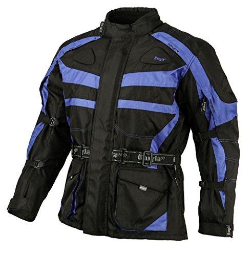 Ledershop-online 1152 Bangla Motorradjacke Tourenjacke Schwarz Blau 8 XL
