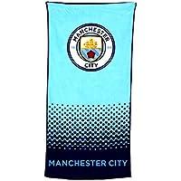 Manchester City FC Official Football Crest Design Fade Beach Towel