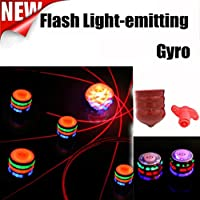 Spinning Tops Toys, Bestow Magic Music Spinning Tops Gyroscope with Colorful Flash Light-emitting Red Laser Line Christmas Gift for Boys Children Kids Girls