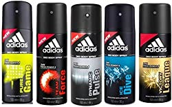 Adidas Pure Game Team Force Dynamic Pulse Ice Dive Victory League Deodorant Spray - For Men��(150 Ml, Pack Of 5)