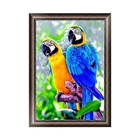 dairyshop 5D Parrot Diamant Stickerei Gemälde Strass Kreuzstich DIY Dekoration