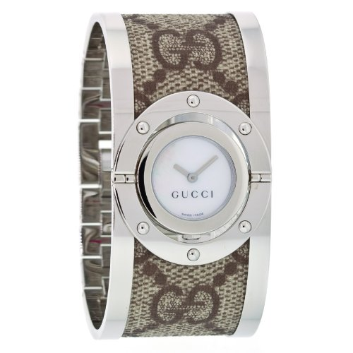 Gucci Twirl Steel/Fabric Ladies Watch YA112418