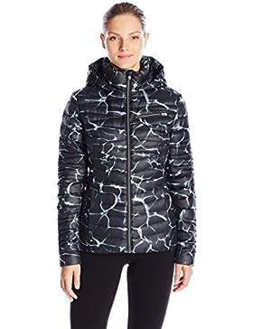 Spyder de la mujer atemporal Down con capucha para, mujer, Waves Black Print/Black, XL
