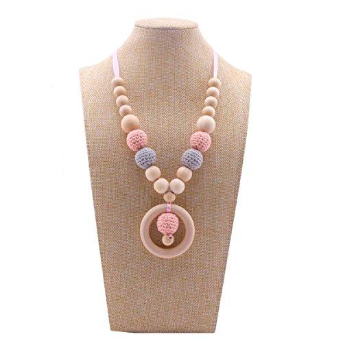 Best for baby Collier Allaitement Teether En bois bague Perles de crochet DIY Artisanat Bébé Collier de soins infirmiers Bijoux pour maman