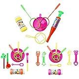 com-four 3er Set - 3 verschiedene Seifenblasensets, mit verschiedenen Seifenblasenfiguren für außergewöhnliche Seifenblasen (Set 1)
