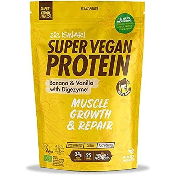 Super Vegan Protein Plátano y Vainilla con Digezyme: Amazon ...